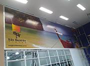 Painel interno quadro de lona